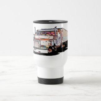 Semi Truck Travel Mug
