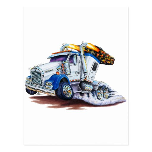 Semi Truck with Sleepercab Postcard