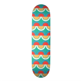 Semicircles and arcs pattern 20 cm skateboard deck