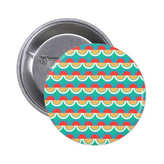 Semicircles and arcs pattern 6 cm round badge