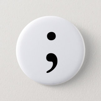 Semicolon badge
