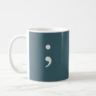 Semicolon Basic White Mug