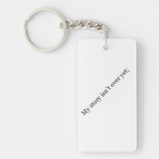 "Semicolon Keychain ""My story isn't over yet"""