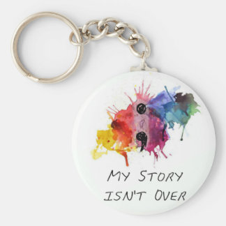 Semicolon- My Story isnt Over Basic Round Button Key Ring