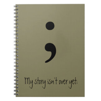 Semicolon / My story isn't over yet; Notebooks
