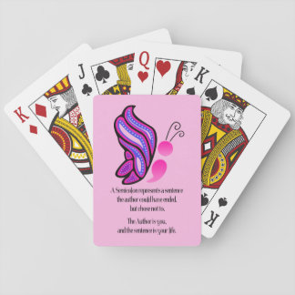 Semicolon Suicide/Depression Awareness Butterfly Playing Cards