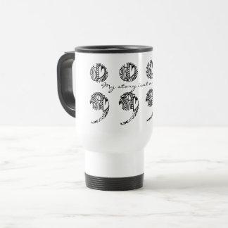 "Semicolon Zendoodle: ""My story..."" Travel Mug gift"