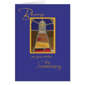 Seminarian Cross Journey Card