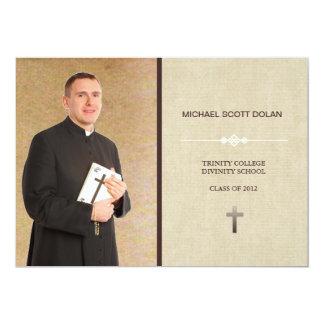 """Seminary Graduation Photo Announcement 5"""" X 7"""" Invitation Card"""