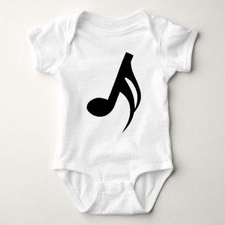Semiquaver Musical Note Baby Bodysuit