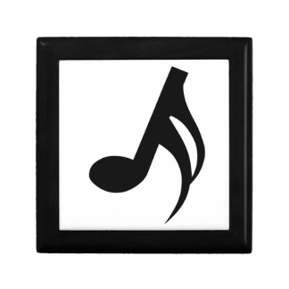 Semiquaver Musical Note Small Square Gift Box
