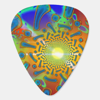 SemiSonic 3D Dichoric Glass Fractal Plectrum