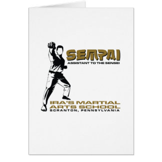 Sempai Dwight Assistant Greeting Cards