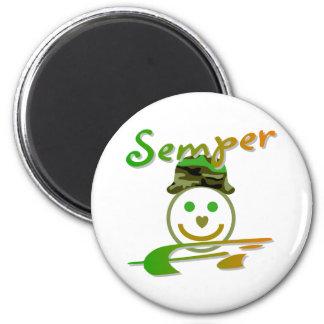 Semper Fi 6 Cm Round Magnet
