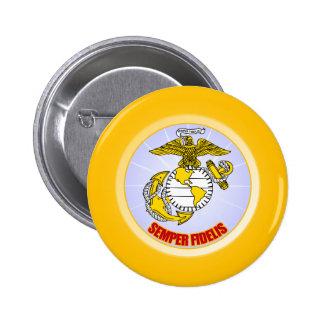 Semper Fi [EGA] 6 Cm Round Badge