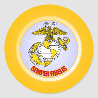 Semper Fi [EGA] Classic Round Sticker