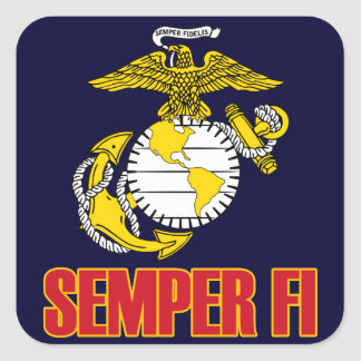 Semper Fi [EGA] Square Sticker