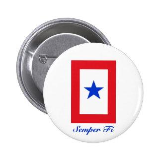 Semper Fi - Family Flag 6 Cm Round Badge