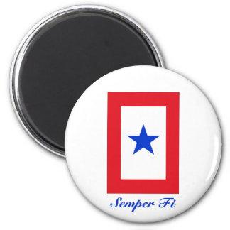Semper Fi - Family Flag 6 Cm Round Magnet