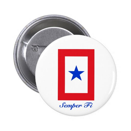 Semper Fi - Family Flag Pinback Buttons
