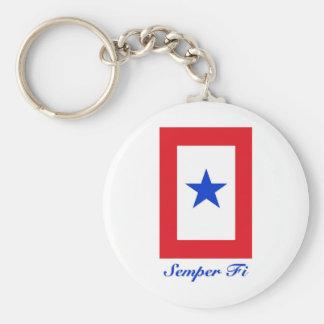 Semper Fi - Family Flag Basic Round Button Key Ring