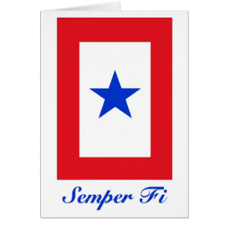 Semper Fi - Family Flag Greeting Card