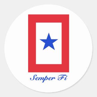 Semper Fi - Family Flag Round Sticker
