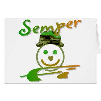 Semper Fi Greeting Card