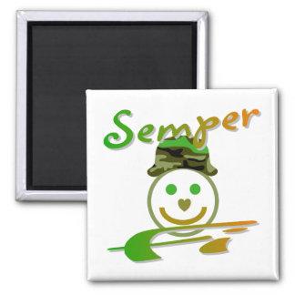 Semper Fi Square Magnet