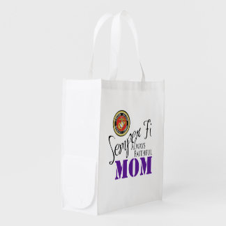 Semper Fi Mom Grocery Bag