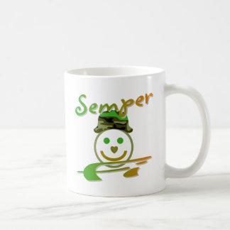 Semper Fi Basic White Mug