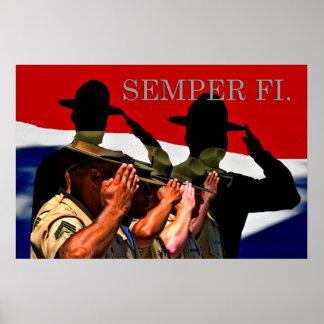 Semper Fi Patriotic Poster