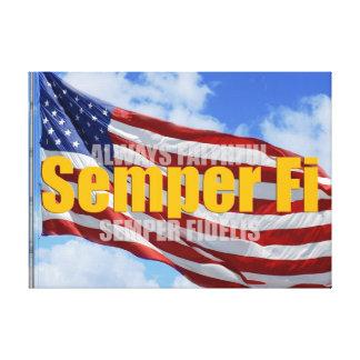 Semper Fi Poster Canvas Prints