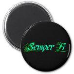 Semper Fi Refrigerator Magnets