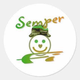 Semper Fi Round Sticker