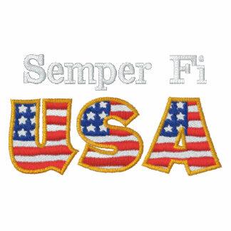 Semper Fi USA BK Embroidered Shirt