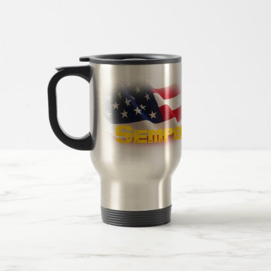 Semper Fidelis Stainless Steel Travel Mug