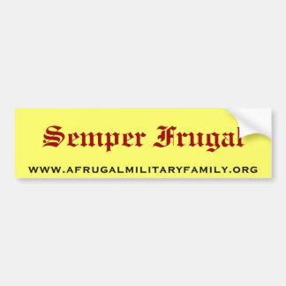 Semper Frugal Bumper Sticker