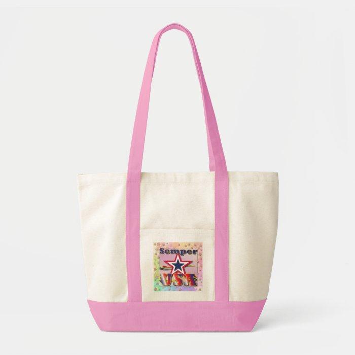 Semper USA America Stars Stripes Shopping Bag