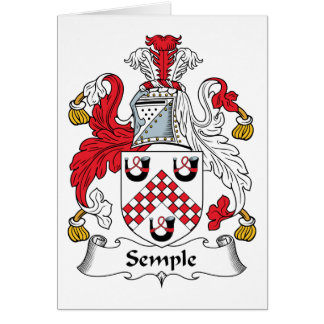 Semple Family Crest Card