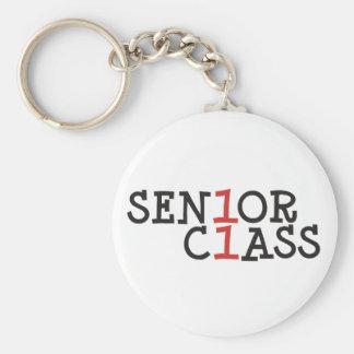 sen1or c1ass - Senior Class 2011 Basic Round Button Key Ring