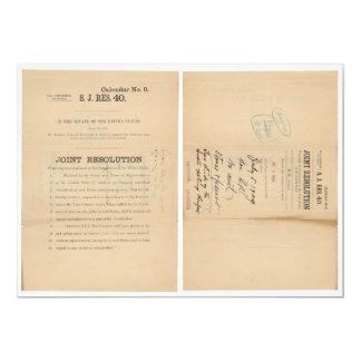 Senate Joint Res 40 16th Amendment Income Tax 13 Cm X 18 Cm Invitation Card