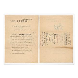 Senate Joint Res 40 16th Amendment Income Tax Invitation