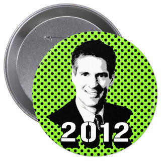 SENATOR SCOTT BROWN 10 CM ROUND BADGE