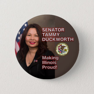 Senator Tammy Duckworth Illinois Pride Button