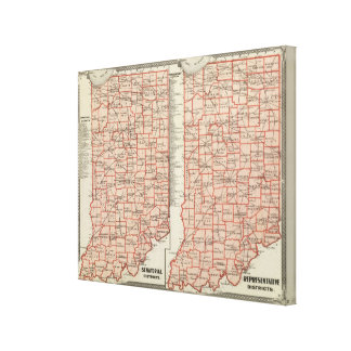 Senatorial districts 2 canvas print