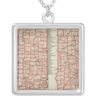 Senatorial districts 2 silver plated necklace
