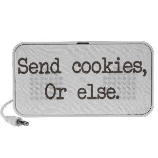 Send Cookies or Else Travel Speaker