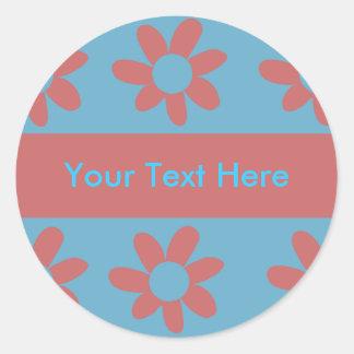 Send Flowers Classic Round Sticker