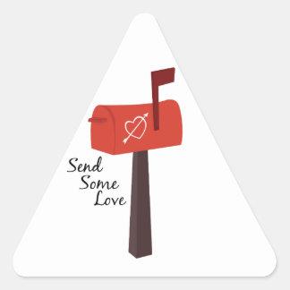 Send Some Love Triangle Sticker